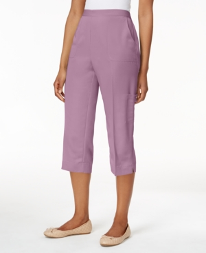 Alfred Dunner Petite Cargo Capri Pants plus size,  plus size fashion plus size appare