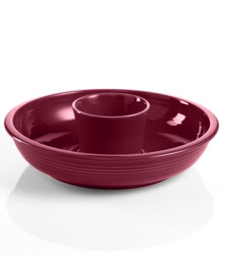Fiesta Claret Chip and Dip Set
