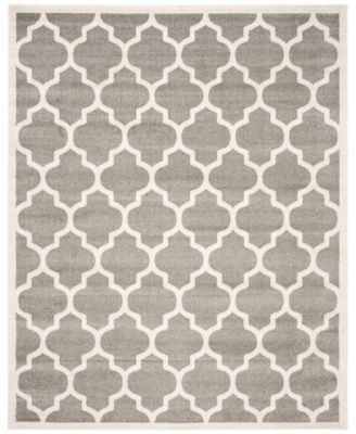 "Safavieh Amherst Indoor/Outdoor AMT420R Dark Grey/Beige 2'6"" x 4' Area Rug"