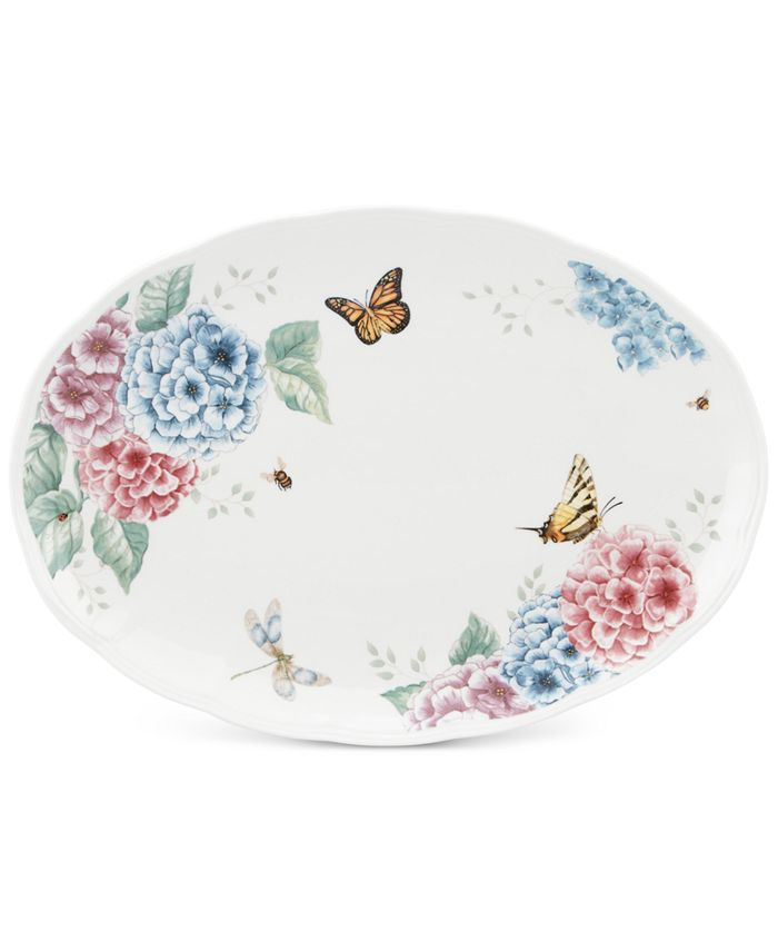 Lenox - Butterfly Meadow Hydrangea Collection Oval Platter