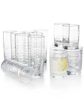 Libbey 16-Pc. Pueblo Cooler & Double Old-Fashioned Glasses