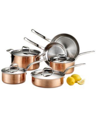Lagostina Martellata Tri-ply Copper 10-Pc. Cookware Set
