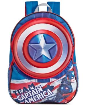 Global Design Concepts Little Boys' or Toddler Boys' Captain America Backpack