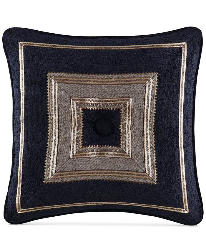 "J Queen New York - Bradshaw Black 18"" x 18"" Decorative Pillow"