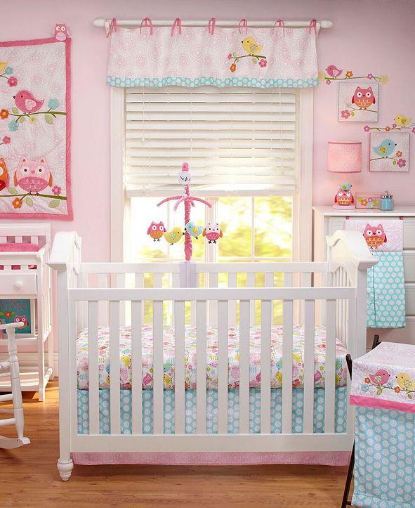 NoJo Love Birds 4 Piece Crib Bedding Set