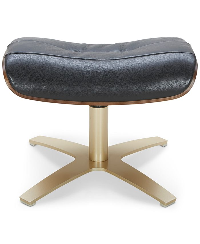 Furniture - Annaldo Leather Ottoman