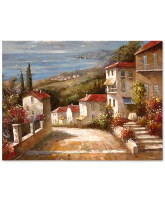 "'Home in Tuscany' Canvas Print by Joval 24"" x 32"""