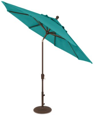 Outdoor Bronze 9' Push Button Tilt Umbrella, Direct Ships for $9.95!