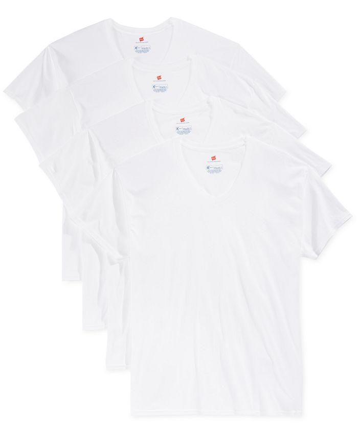 Hanes - Men's 4-Pk. Platinum T-Shirts
