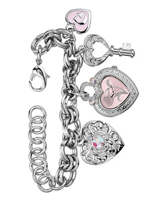 GUESS Women's Charm-Bracelet Watch