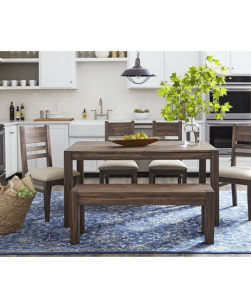 Furniture Avondale 6 Pc Dining Room Set Created For Macy S 60 Dining Table 4 Side Chairs Bench Reviews Furniture Macy S