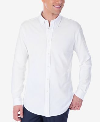 Image of Tommy Hilfiger Men's Fitted Knit Button-Down Dress Shirt