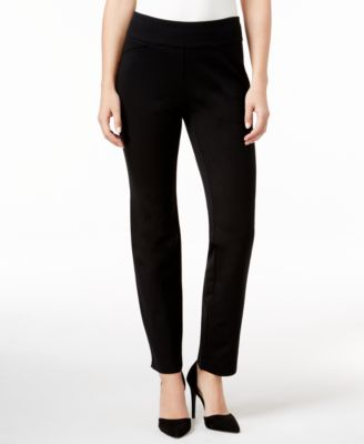 Image of Charter Club Cambridge Ponte Pull-On Slim-Leg Pants, Only at Macy's