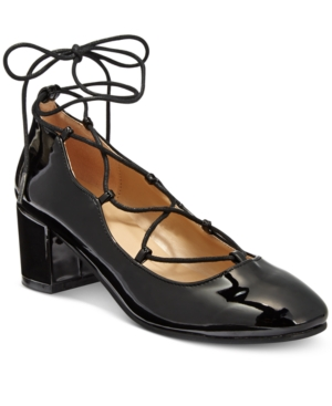 Wanted Abby Lace-Up Block-Heel Pumps Women's Shoes