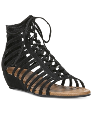 Carlos by Carlos Santana Cornelia Gladiator Lace-Up Wedge Sandals Women's Shoes