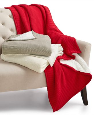 Martha Stewart Collection Solid Seed Stitch Throw, Only at Macy's