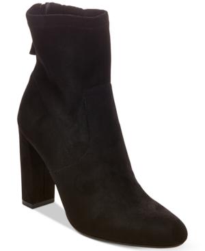 Steve Madden Brisk Block-Heel Sock Booties Women's Shoes
