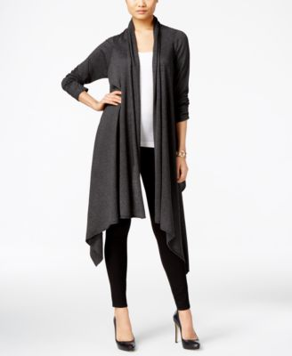 Image of Cable & Gauge Multi-Wrap Open-Front Cardigan