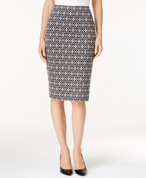 Grace Elements Printed Pencil Skirt $60.00 AT vintagedancer.com