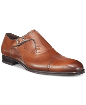 Mezlan Men's Kingston Single Monk Cap-Toe Oxfofds Men's Shoes