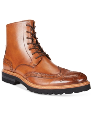 Kenneth Cole New York Men's Click Sound Wing-Tip Boots Men's Shoes