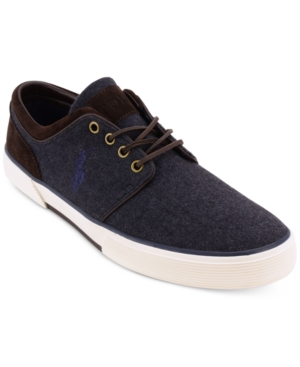 Polo Men's Faxon Flannel Suede Sneakers Men's Shoes