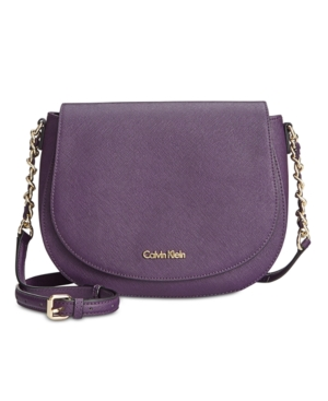 Calvin Klein Saffiano Saddle Bag