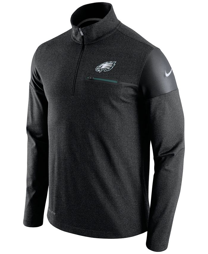 Nike - Men's Philadelphia Eagles Elite Coaches Quarter-Zip Pullover