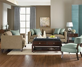 Macy*s - Furniture - Truman Upholstered Living Room Furniture :  home furniture sofa modern
