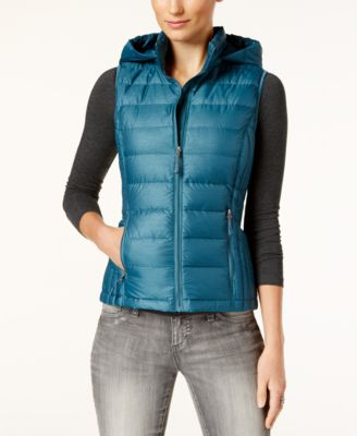 Image of 32 Degrees Packable Down Hooded Puffer Vest, Only at Macy's