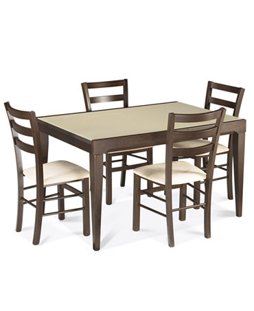 Caf latte dining room sets furniture macy 39 s for Dining room tables macys