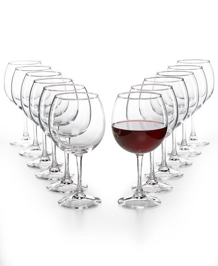 Martha Stewart Collection - Essentials 12-Pc. Red Wine Glasses Set