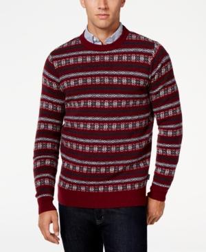 Men's Vintage Style Sweaters – 1920s to 1960s Barbour Mens Harvard Fair Isle Crew-Neck Sweater $169.00 AT vintagedancer.com