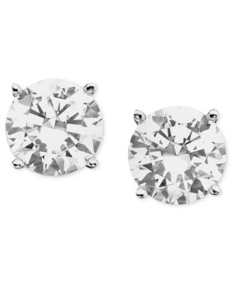 Certified Colorless Diamond Stud Earrings in 18k White Gold (1 ct. t.w.)