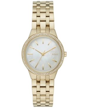 Dkny Women's Park Slope Gold-Tone Stainless Steel Bracelet Watch 28mm NY2572