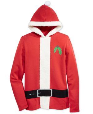 American Rag Men's Holiday Santa Claus Hooded Sweatshirt, Only at Macy's