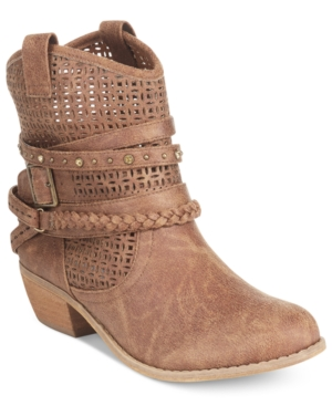 Not Rated Vanoora Perforated Ankle Booties Women's Shoes