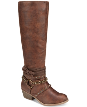 Not Rated Tulia Riding Boots Women's Shoes