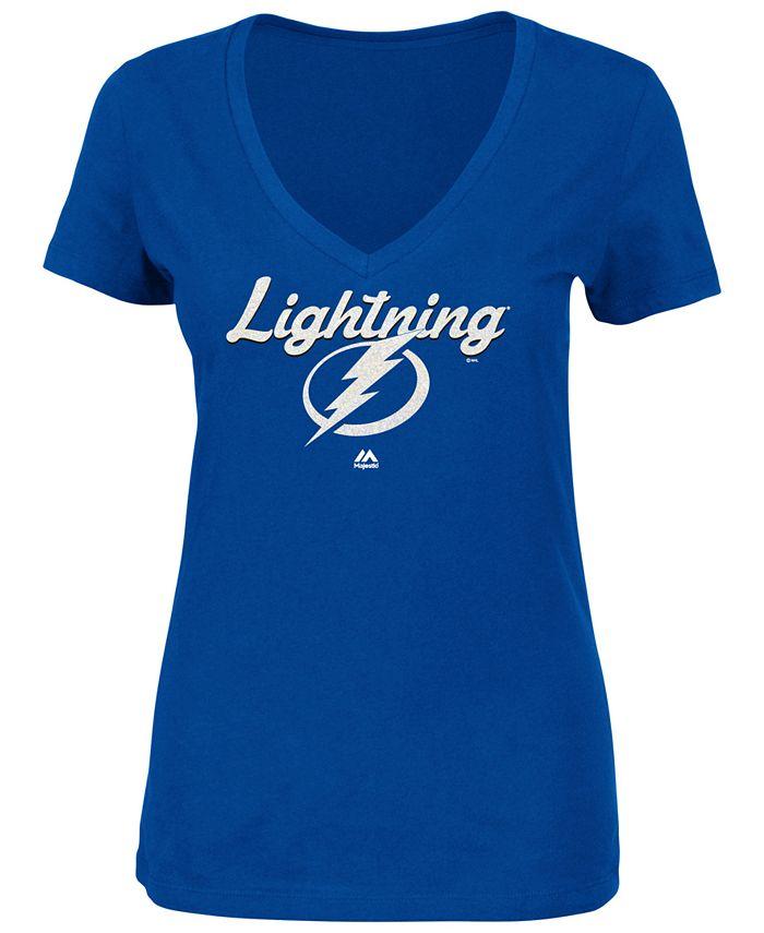 Majestic - Women's Match Penalty Glitter T-Shirt