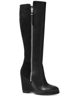 Michael Kors Clara Wide Calf Wedge Tall