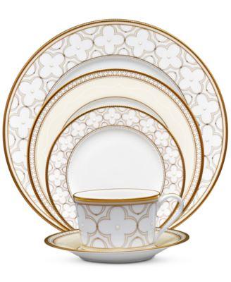 Trefolio Gold Dinnerware Collection Creamer