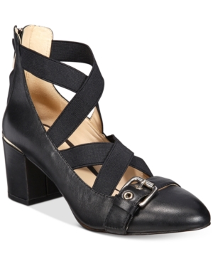 Nine West Andrew Block-Heel Pumps Women's Shoes