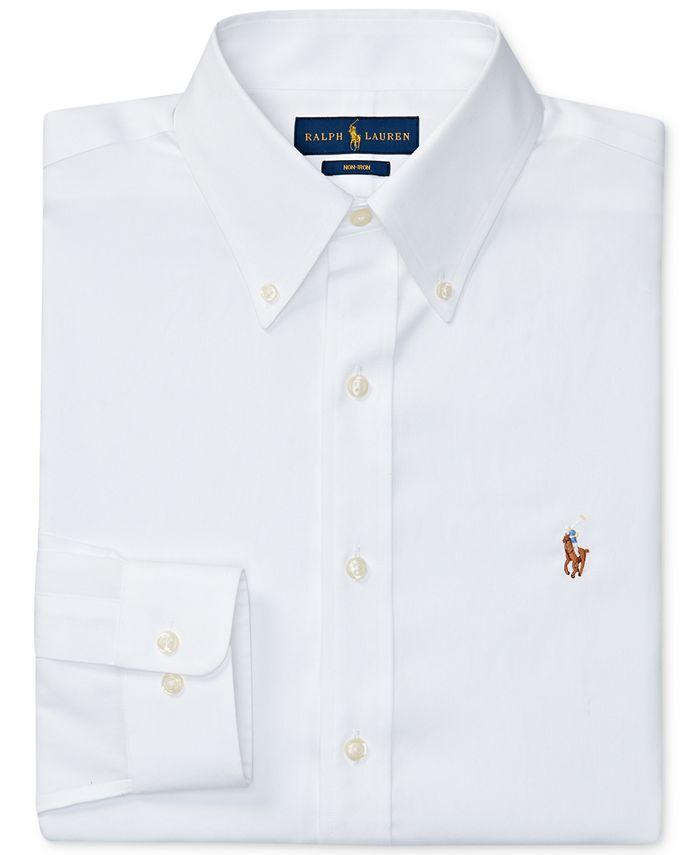 Polo Ralph Lauren Men's Pinpoint Oxford Dress Shirt & Reviews ...
