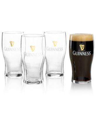 Luminarc Guinness Gold Logo Pint Glass Set of 4