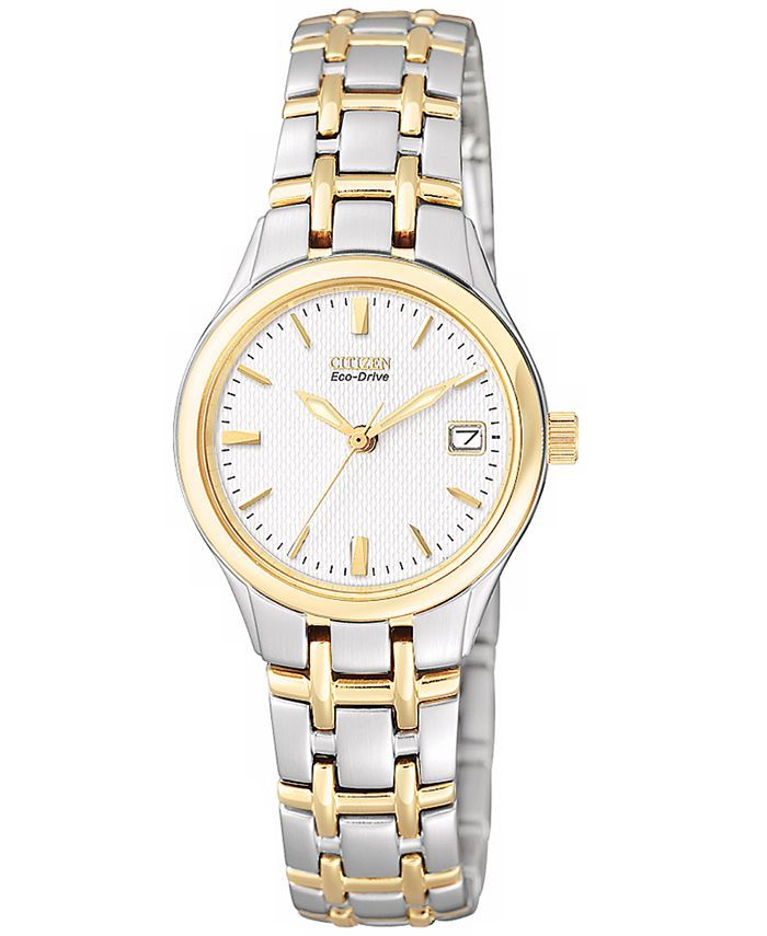 Citizen - Women's Eco-Drive Two Tone Stainless Steel Bracelet Watch 25mm EW1264-50A