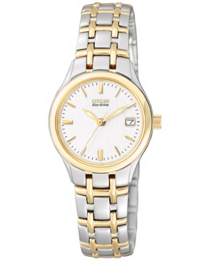 citizen watch women 39 s eco drive two tone stainless steel. Black Bedroom Furniture Sets. Home Design Ideas