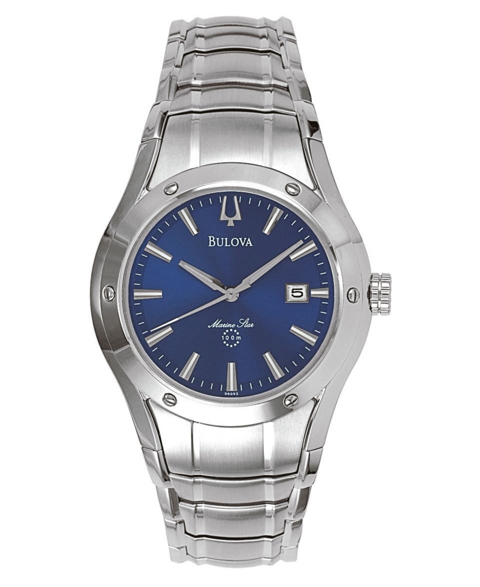 Bulova Mens Marine Star Stainless Steel Bracelet Watch 96G92   Watches   Jewelry & Watches