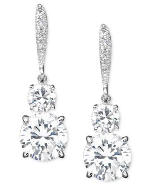 Eliot Danori Cubic Zirconia (6 ct. t.w.) & Crystal Earrings