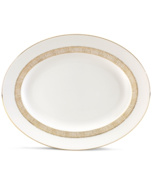 "Vera Wang Wedgwood ""Gilded Weave"" Oval Platter, 13.75"""