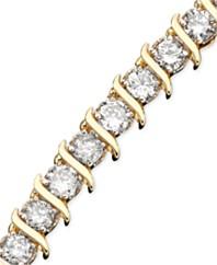 Diamond Bracelet 10k Gold 5 Ct T W